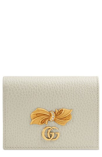 Fiocchino Leather Card Case by Gucci