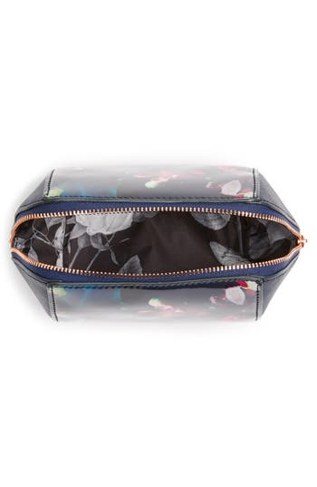 Small Cosmetics Case,                             Alternate thumbnail 3, color,                             Dark Blue