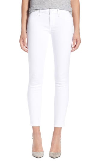 PAIGE 'Verdugo' Ankle Skinny Jeans (Ultra White)