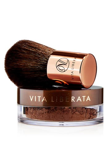 Trystal<sup>™</sup> Minerals Bronze Self Tanning Bronzing Minerals & Kabuki Brush,                         Main,                         color, No Color