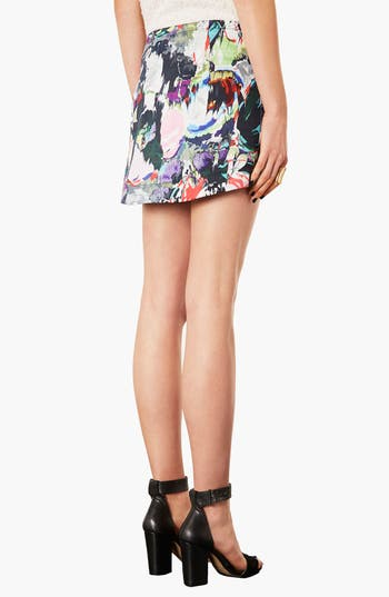 Alternate Image 2  - Topshop Marble Print High/Low Skirt