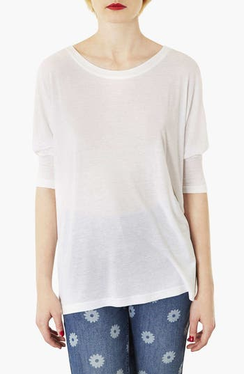 Main Image - Topshop Elbow Sleeve Oversized Tee