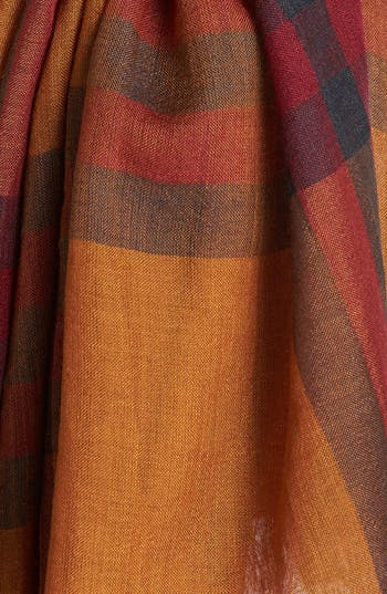 Alternate Image 2  - Burberry Giant Check Print Wool & Silk Scarf