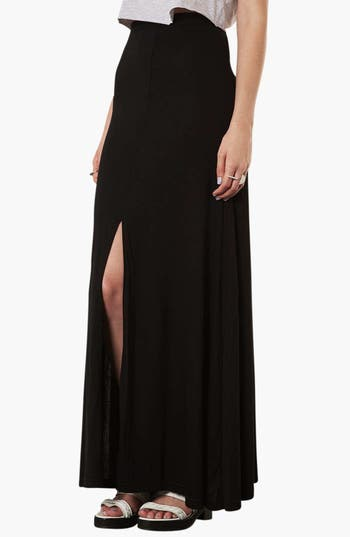 Main Image - Topshop Front Slit Maxi Skirt