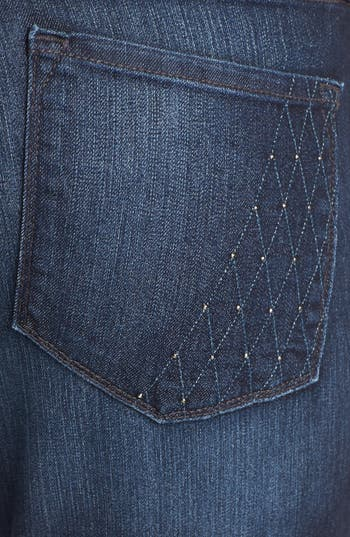 Alternate Image 3  - NYDJ 'Sheri' Embellished Pocket Stretch Skinny Jeans