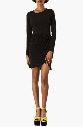 Main Image - Topshop Long Sleeve Crepe Dress