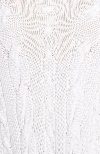 Alternate Image 3  - MICHAEL Michael Kors V-Neck Cable Poncho Sweater