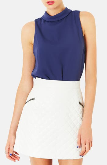 Main Image - Topshop Sleeveless Mock Turtleneck