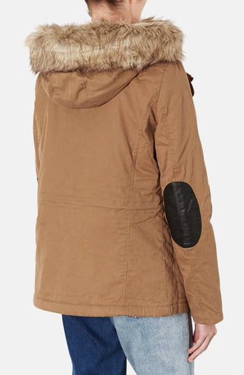 Alternate Image 2  - Topshop Removable Faux Fur Trim Parka