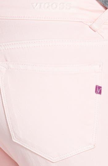 Alternate Image 3  - Vigoss Skinny Ankle Jeans (Light Pink) (Juniors) (Online Only)