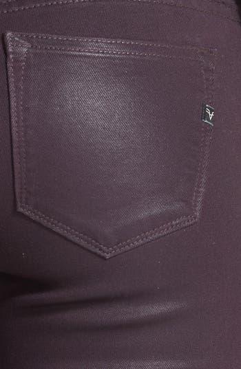 Alternate Image 3  - Vigoss Coated Skinny Jeans (Eggplant) (Juniors)