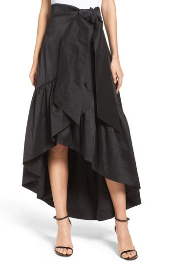 Eliza J Faux Wrap Skirt