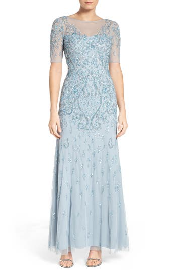 Adrianna Papell Embellished A-Line Gown