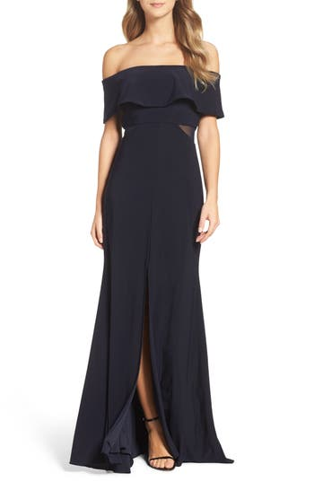 Xscape Jersey Popover Gown