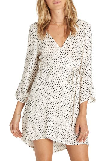 Billabong Wrap It Up Print Wrap Dress