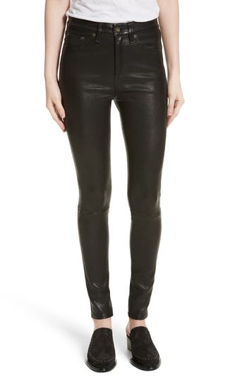 rag & bone/JEAN Lambskin Leather Pants