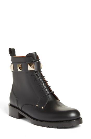 VALENTINO GARAVANI Lock Combat Boot (Women)