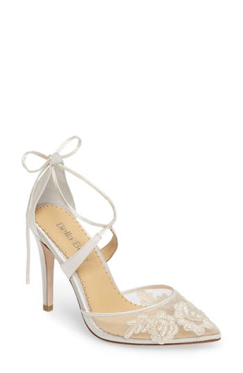 Bella Belle Anita Illusion Lace Cross Strap Pump (Women)