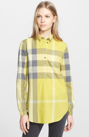 Burberry Brit Check Tunic Shirt Nordstrom