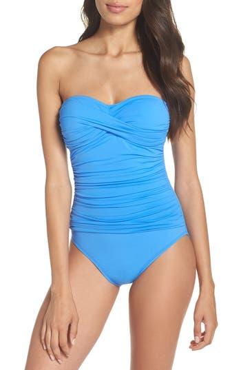 La Blanca Twist Front Bandeau One-Piece Swimsuit