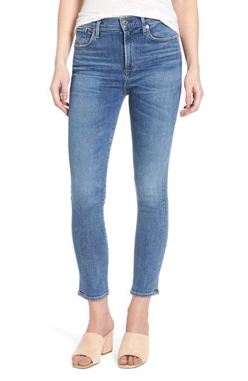 AGOLDE Sophie High Waist Crop Skinny Jeans (Adore)