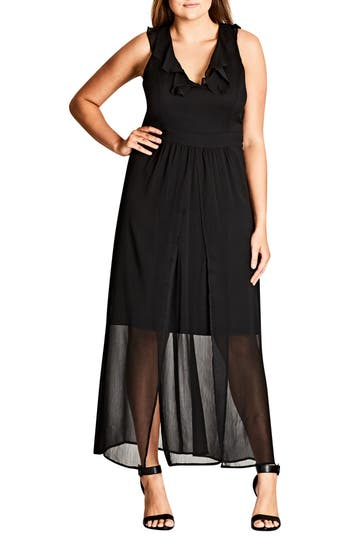 City Chic Tranquility Maxi Dress (Plus Size)