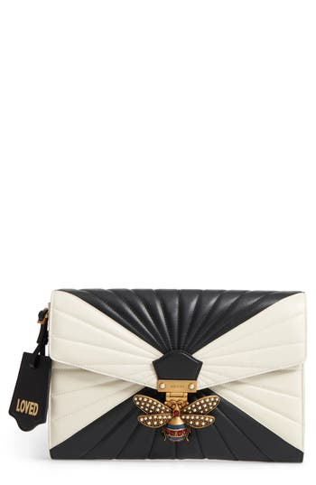 Gucci Queen Margaret Matelass? Leather Clutch