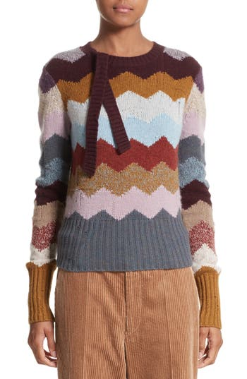 MARC JACOBS Intarsia Chevron Cashmere Sweater