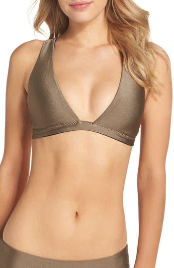 Becca Reversible Shimmer Plunge Bikini Top