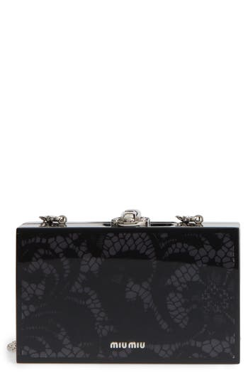 Miu Miu Lace Box Clutch