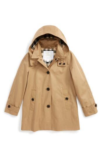 Burberry Geri Update Hooded Rain Jacket Little Girls