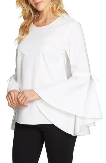 1.STATE Cascade Sleeve Top