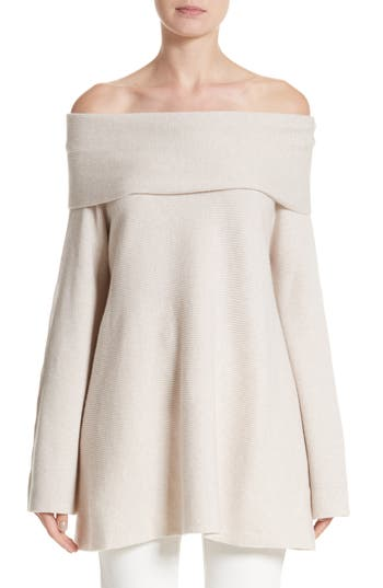 Lafayette 148 New York Cashmere Off the Shoulder Sweater