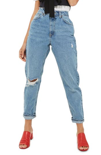 Topshop Ripped Mom Jeans