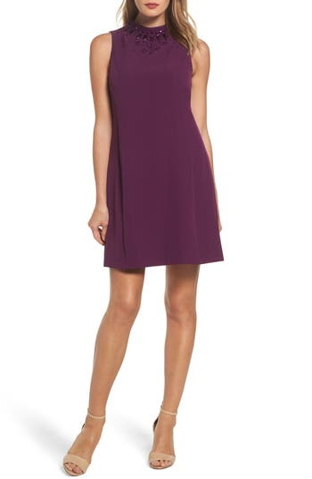 Adrianna Papell Beaded Trapeze Dress