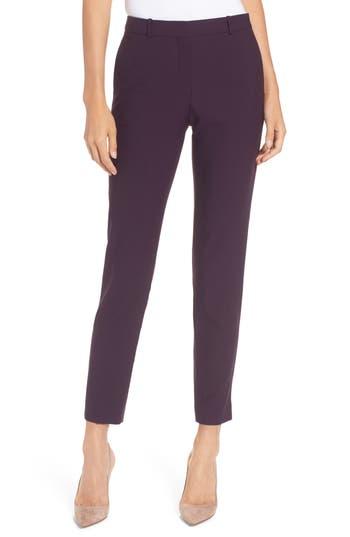 BOSS Tiluna Straight Leg Wool Suit Pants