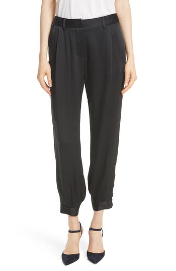 Nili Lotan Bertina Pleated Crop Pants
