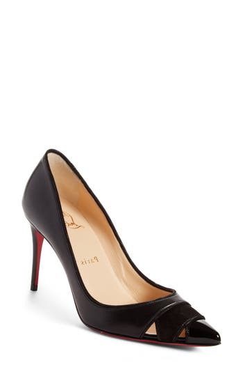 Christian Louboutin Biblio Cutout Pointy Toe Pump (Women)