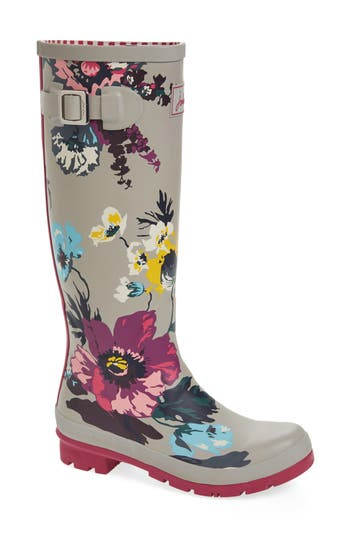 Joules 'Welly'�Print�Rain Boot (Women)