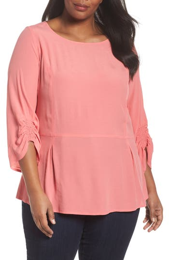 Smocked Sleeve Top by Sejour