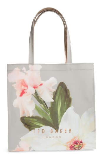 89153575ba4 Ted Baker Small Icon Bag In Peach Blossom Print | 2019 trends | xoosha