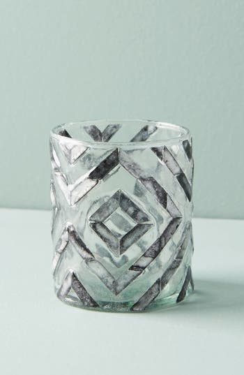 Herringbone Capiz Votive Candleholder by Anthropologie