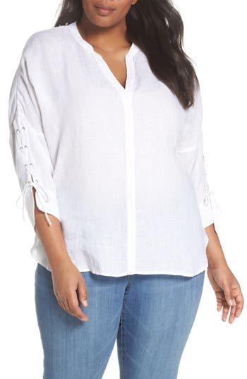 Cliff View Linen Top by Nic+Zoe