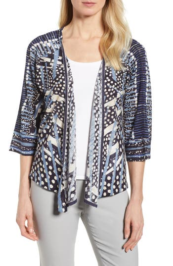 Pacific Coast Four Way Convertible Print Cardigan by Nic+Zoe