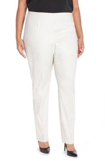 NIC+ZOE'Perfect' Side Zip Pants (Plus Size)