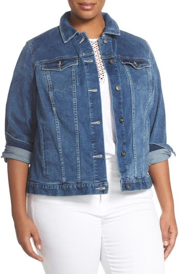 Two by Vince Camuto Denim Jacket (Plus Size)