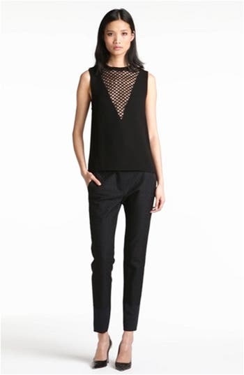 'Harlow' Checkerboard Lace Inset Top, video thumbnail