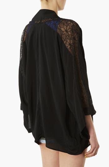 Alternate Image 2  - Topshop Embroidered Kimono Cardigan