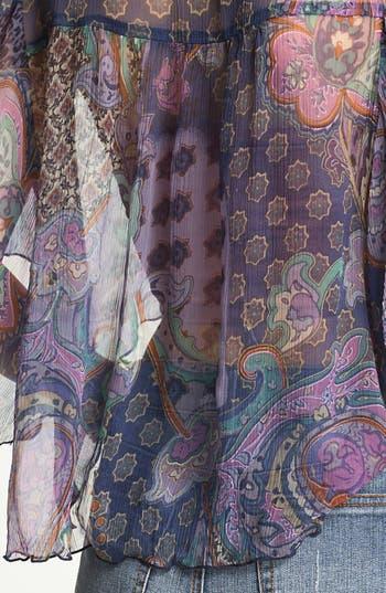 Alternate Image 3  - Band of Gypsies Print Chiffon Crop Top (Juniors)