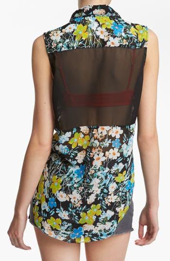 Alternate Image 2  - Like Mynded Sheer Back Sleeveless Shirt